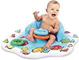 KLEEGER Baby Pool Splash Mat: Infant Water Play Mat Toy With Stackable Rings. For Boys & Girls | Great for Beach, Deck & Backyard