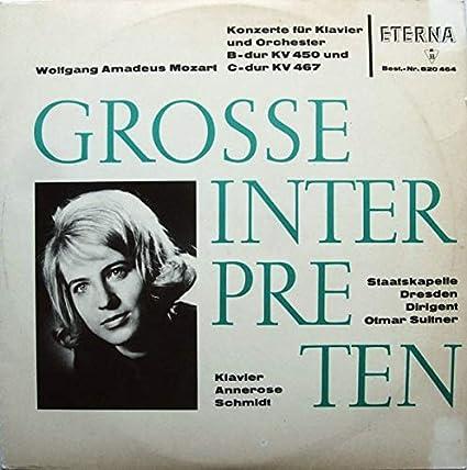 Konzerte Für Klavier Und Orchester B-dur KV 450 Und C-dur KV 467 [Vinyl LP]