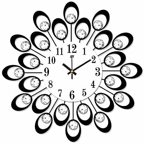 Reloj de pared de cuarzo segundo dormitorio Salón ideas forja reloj de pared Reloj de cuarzo de hierro silencio continental diamond arte digital reloj de ...