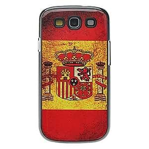 Bandera española patrón caso duro de aluminio para Samsung Galaxy S3 I9300