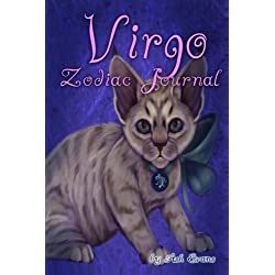 Virgo Zodiac cat blank journal
