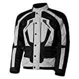 Olympia Moto Sports Men's Richmond Silver Textile Jacket, XL