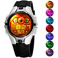 Kid reloj LED Deporte 30M impermeable Multi Función Digital Reloj de pulsera para niños niño niña regalo