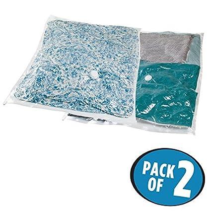 mDesign Juego de 2 bolsas al vacío para ropa (XXL) - Bolsas ...