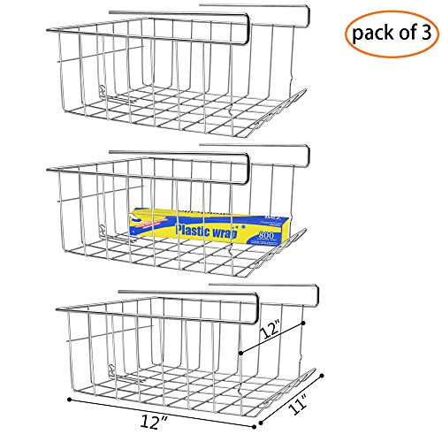 Wire Stackable Basket - Monpearl 3 Pack 12