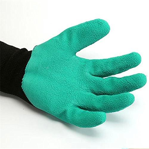 Meanch Garden Genie Gloves With Fingertip Claws for Digging