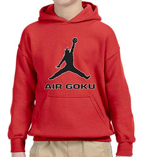 New Way 629 - Youth Hoodie Air Goku DBZ Dragon Ball Z Jordan Parody Unisex Pullover Sweatshirt Medium Red ()