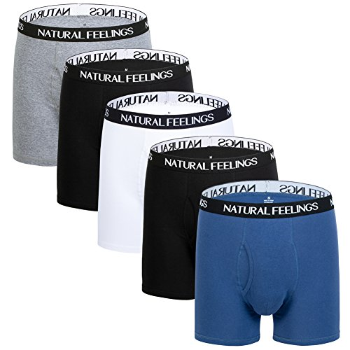 Mens Underwear Boxer Briefs Ultra Cotton Underwear Men Pack of 5 Contoured Pouch
