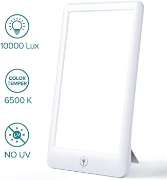 Sakobs LED Therapy Lamp With UV-Free 10000 Lux Brightness