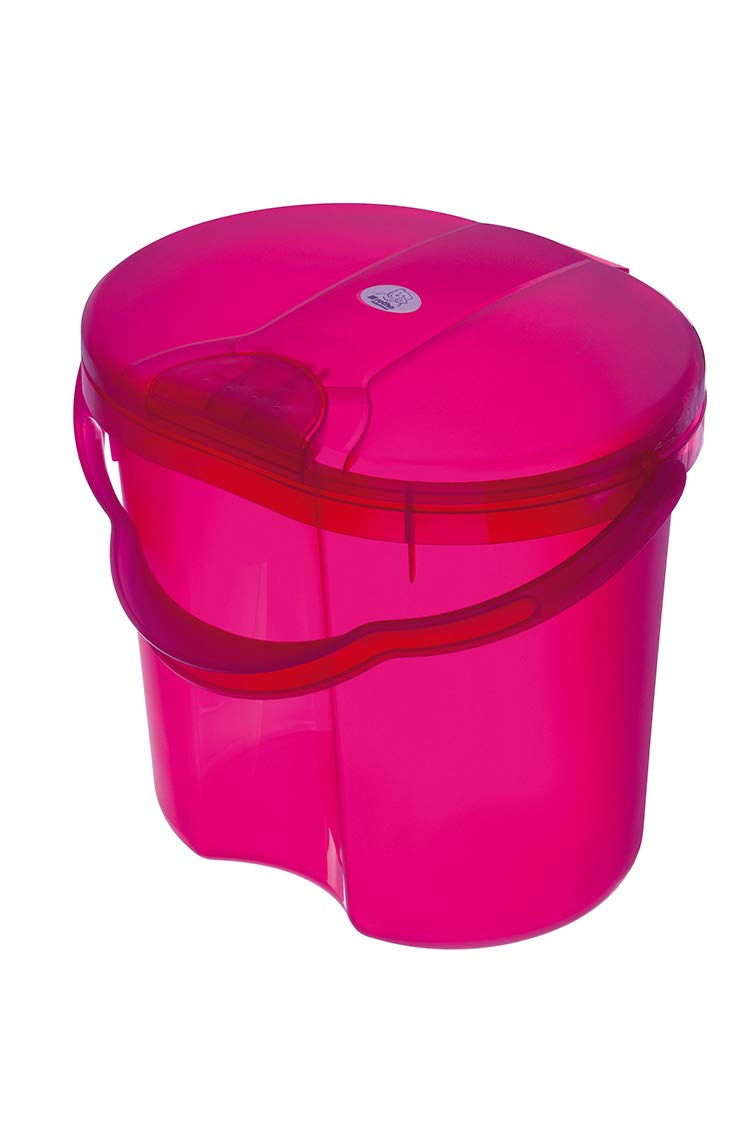 Rotho Baby Design Topline Translucent Nappy Pail, Pink Guzzie + Guss 20002-0210