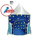 "USA Toyz Kids Play Tent - ""Rocket Ship"" Kids Tent for Girls and Boys + Playhouse Tent Toddler Toys Projector for Indoor Tent or Outdoor Tent Fun"