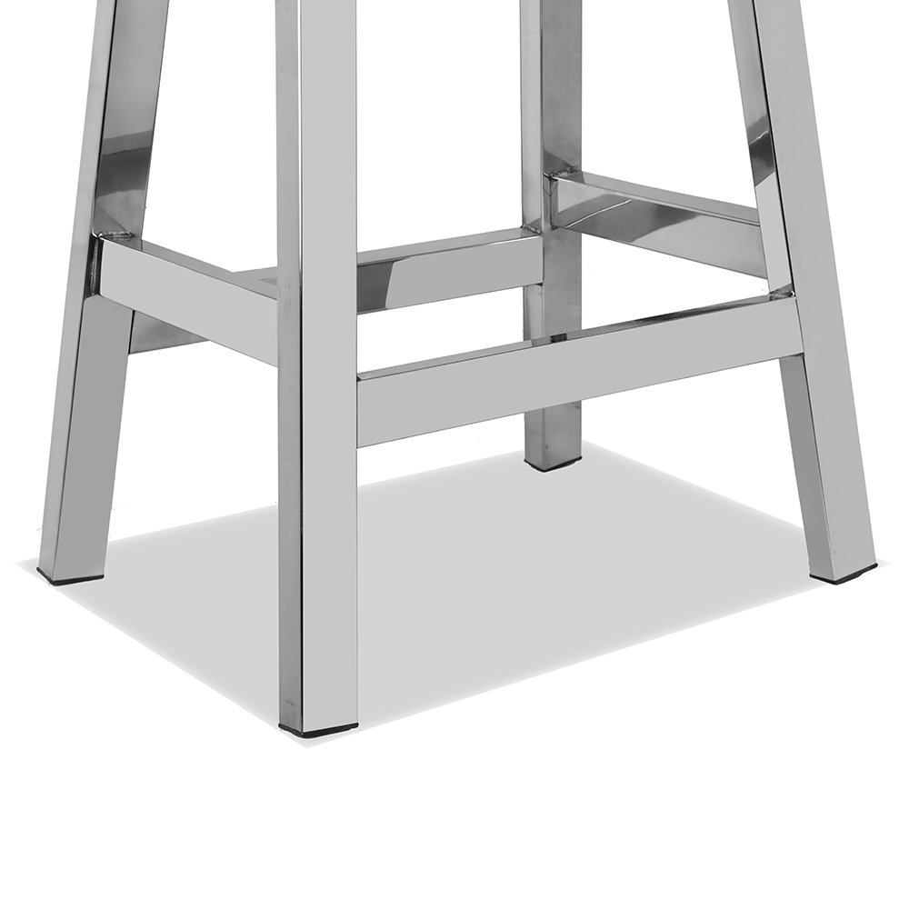 CHAIR DEPOTS Kupa Stainless Steel Saddle Seat Counter Stool, Hand Polished Finish by CHAIR DEPOTS (Image #4)