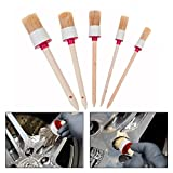 OFKPO 5 Pcs Automotive Motorcycle Detailing Brush Set for Cleaning Wheels, Dashboard, Air Vents