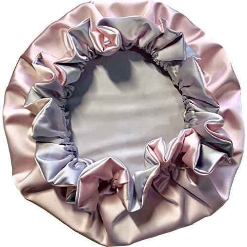 - Satin Bonnet (Pink/Silver, Adult L)