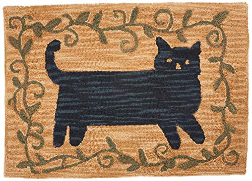 Park Designs Cat Hooked Rug 24X36, 24 x 36 (Folk Area Art Rugs)