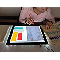 JUNLON A4 LED Light Pad 9x12 Inch Touch Dimmer Light Table Light Box for Tracing