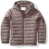 Amazon Essentials Boys' Lightweight Water-Resistant Packable Hooded Puffer Jacket, Grey Flannel, X-Large