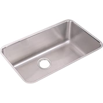 Elkay Lustertone Eluh281610 Single Bowl Undermount Stainless Steel