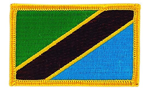 Patch Aufnäher bestickt Flagge Tansania Tanzania Flag zum Aufbügeln Backpack