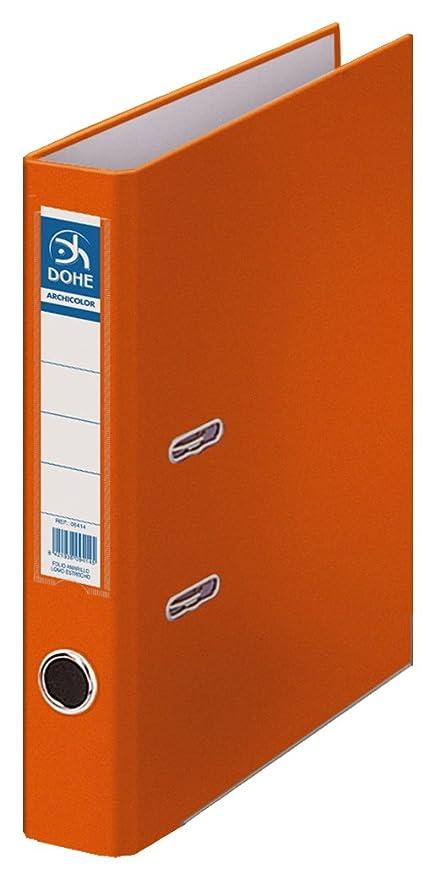 Dohe Archicolor - Archivador folio lomo estrecho, color naranja ...