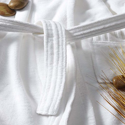 Luxuriously Soft & Cozy Five Star Spa Robe for Men and Women (one size)