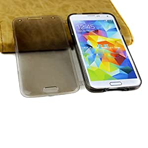 Soft Skin Case TPU Silicone Clear Flip Case Cover For Samsung Galaxy S5