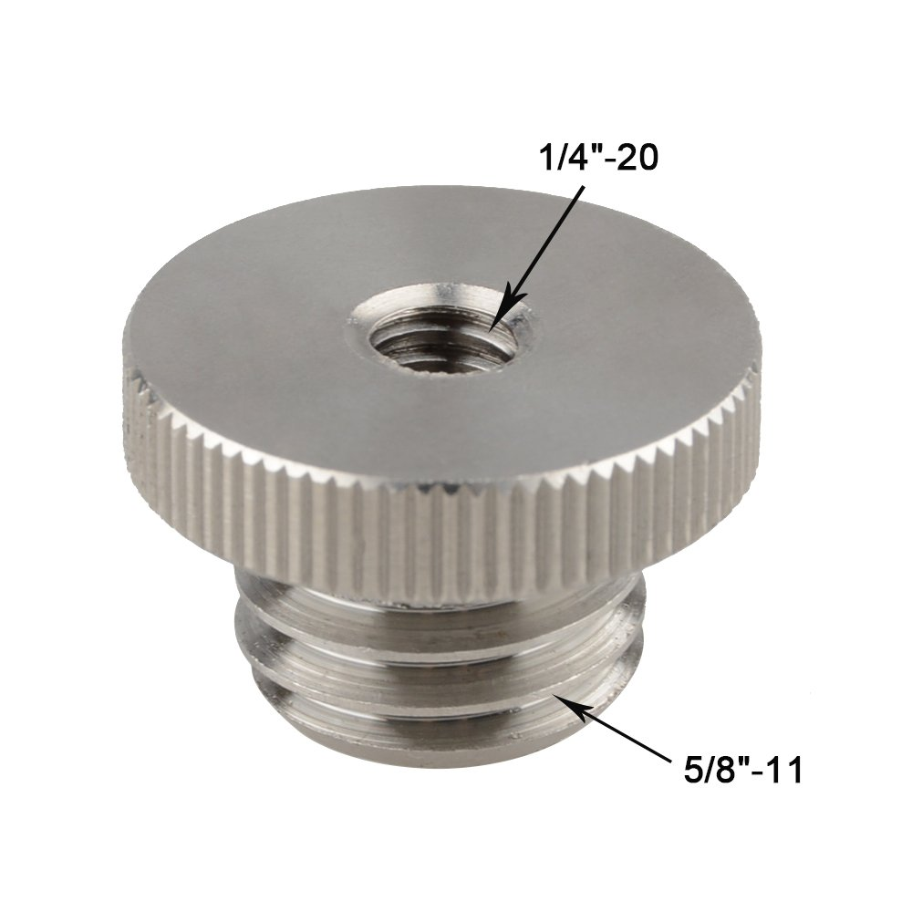 CAMVATE 1//4-20 to 5//8-11 Threaded Screw Adapter for Tripod Laser Level Bosch Adapter