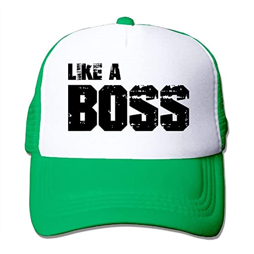 a7f134fe Image Unavailable. Image not available for. Color: mesielldp Like A Boss 2  Mesh Women Casual Trucker Baseball Hat KellyGreen ...