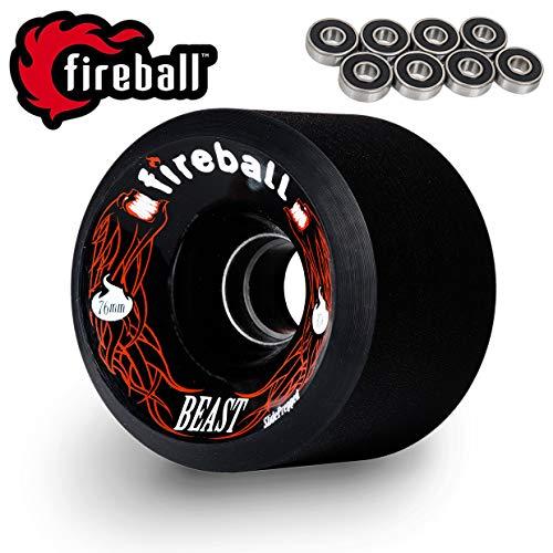 Fireball Beast 76mm Longboard Skateboard Wheels (Set of 4 Wheels)