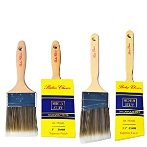 Bates Choice Paint Brush Set with cover, 2 Piece (3-Inch and 2.5-Inch)