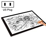 JINYANG Drawing Tools 23W 12V LED Three Level of Brightness Dimmable A2 Acrylic Copy Boards Anime Sketch Drawing Sketchpad, US Plug