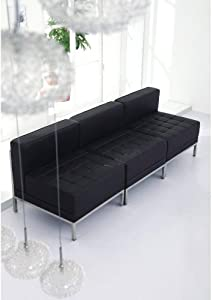 Flash Furniture Black Leather Middle Chair