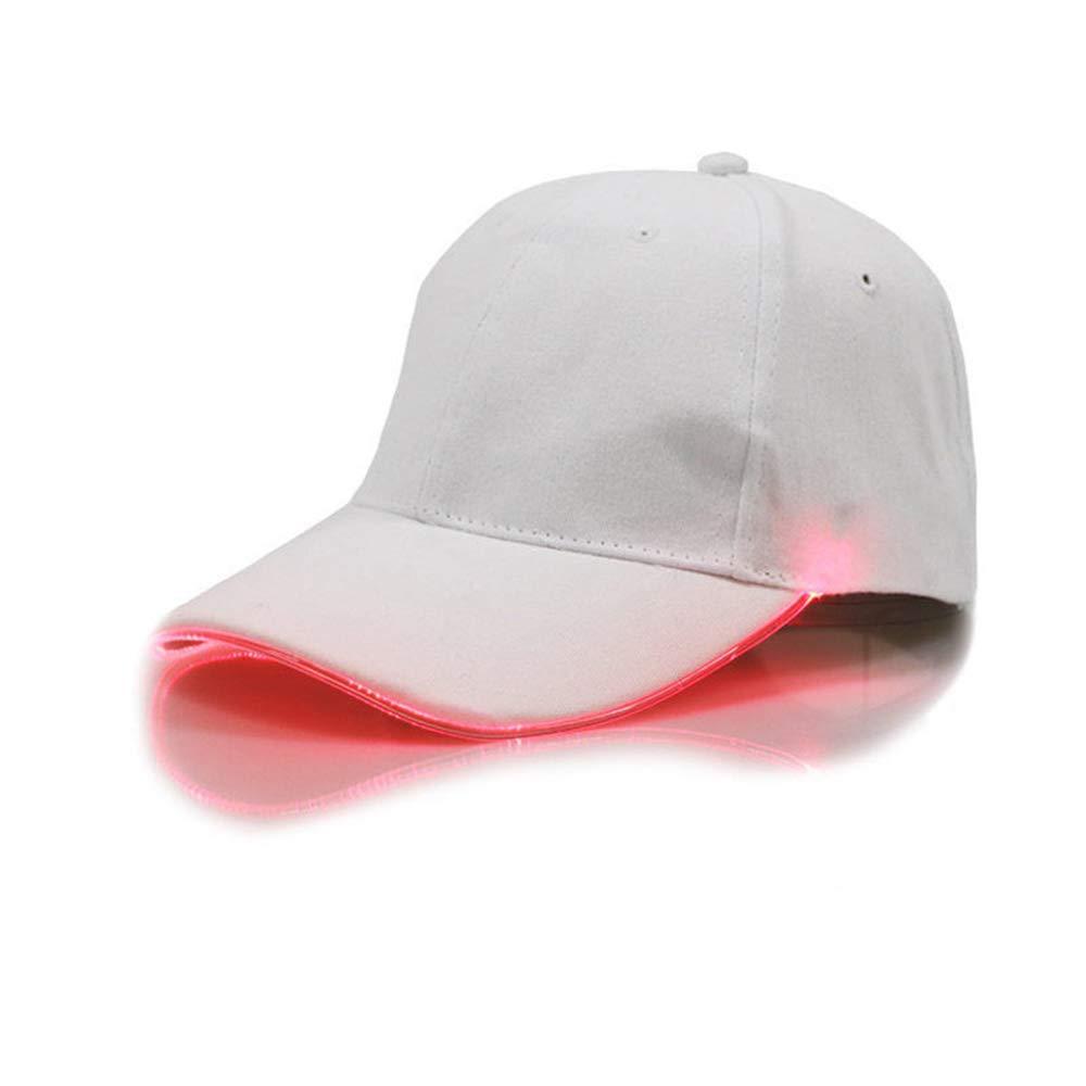 Coole Verstellbare LED-Baseballmütze mit hellem Hut Hip-Hop-Zubehörkappe Geeignet für Club und Party chtdz