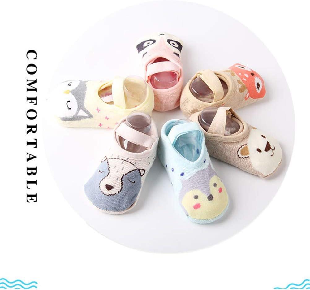1 par Calcetines de algod/ón Antideslizantes Calcetines de Dormir para beb/és y ni/ños peque/ños Calcetines para Dormir Ni/ños Animal Lindo Auplew Calcetines de Piso