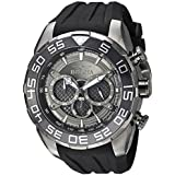 Invicta Men's Speedway Stainless Steel Quartz Watch with Silicone Strap, Black, 30 (Model: 26308)