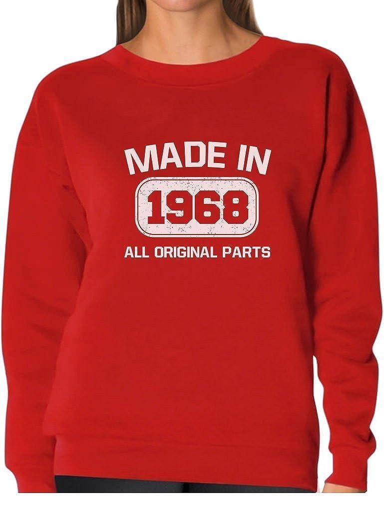 Tstars Made in 1968 All Original Parts 50th Birthday Gifts Women Sweatshirt GZalttMg8