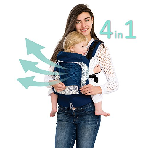 LÍLLÉbaby 4 in 1 ESSENTIALS All Seasons Baby Carrier, Seven Seas