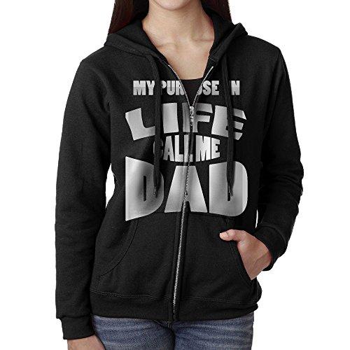 Dad Womens Zip Hoodie - 4