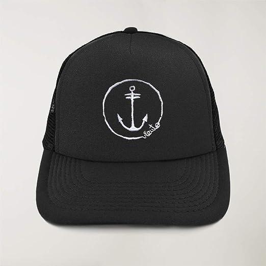 VIENTO Anchor Logo Gorra de Rejilla (Negro, Talla única): Amazon ...