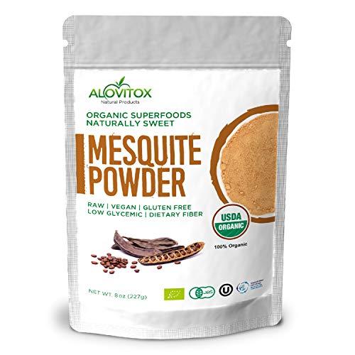 Alovitox Organic Mesquite Powder Raw Vegan Gluten Free 8oz Pouch