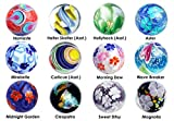 22mm Handmade Art Glass Marbles 2018 Collection w/Stands - Set of 12