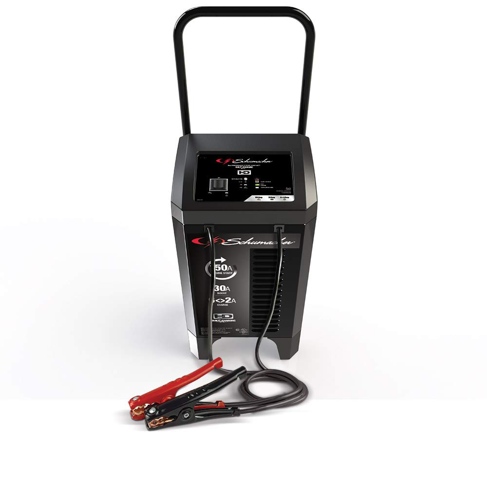 Schumacher SC1364 12V Wheeled Fully Automatic Battery Charger and 20/150A Engine Starter