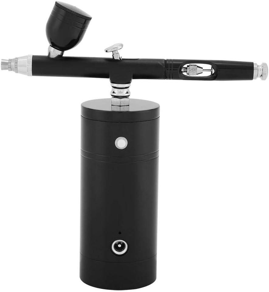 FTVOGUE Kit Multiusos del compresor de Aire con aerógrafo Mini Acción Doble 0.3mm Boquilla 7cc Capacidad Kit de Pistola pulverizadora de Pintura