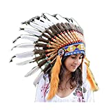 Short Feather Headdress   Native American Indian Inspired.
