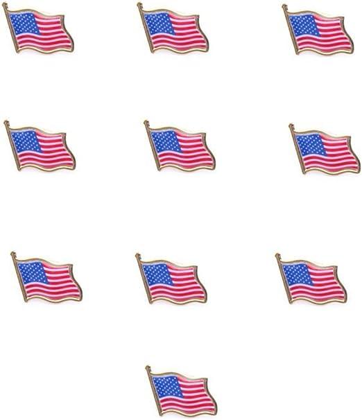 Adulto BOL44961 Boland Cravatta Colori Bandiera U.S.A Multicolore