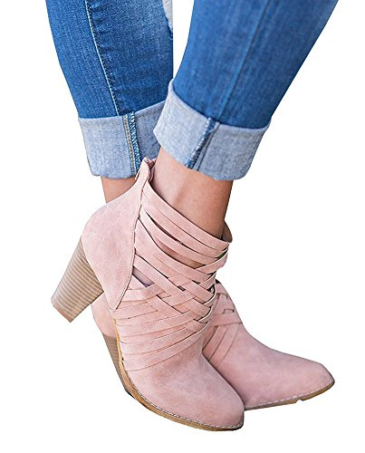 Scarpe Stivaletti Sandali Primavera Da Minetom Stivali Moda Tessitura Pink B Bling Zeppe Estive Donna XqYczCw4x