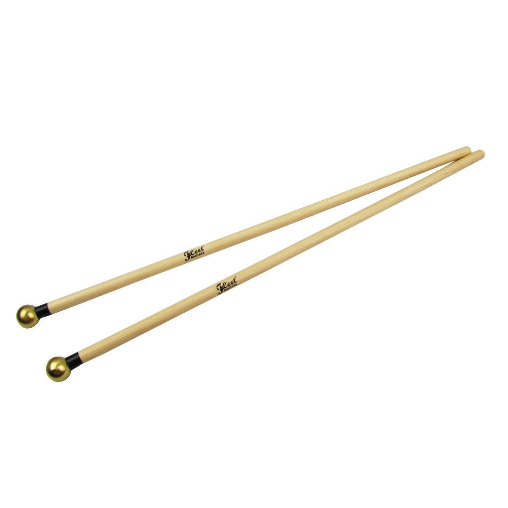 IKN Round Brass Head Mallets Sticks for Xylophone and Bells iknmusic 10809435