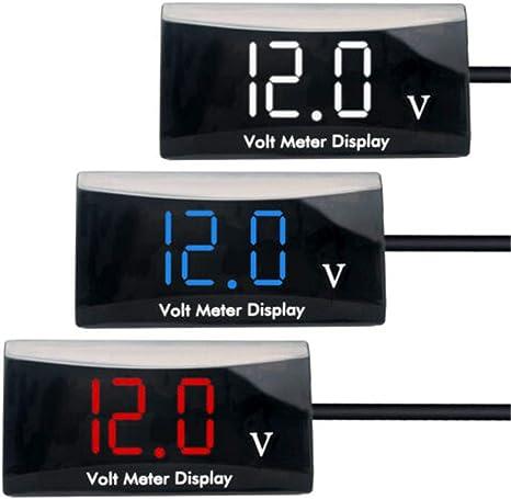 Voltage Volt Meter Gauge LED Display Voltmeter Panel for Car Motorcycle DC 30V