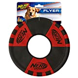 9inch Trackshot Toss and Tug Ring, Red/Balck, Dog Toy by Nerf Dog