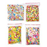 4000 Pcs 3D Polymer Fimo Slices Slime Supplies Charms Slime Making Kit DIY Nail Art Decoration Arts Crafts(Fruit,Smile face,Love Heart,Father Christmas Pattern)-1000Pcs/Pack